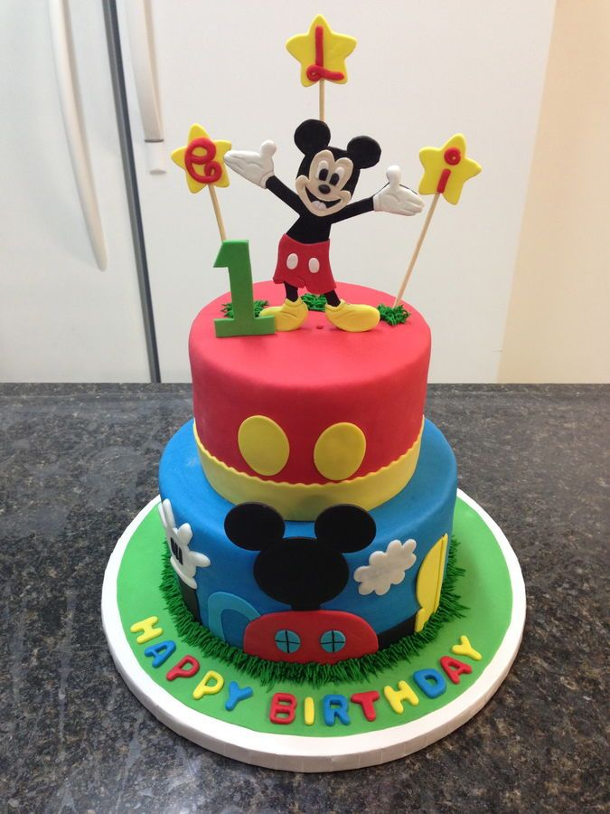 1000+ Ideas About Mickey Mouse Birthday Cake On Pinterest