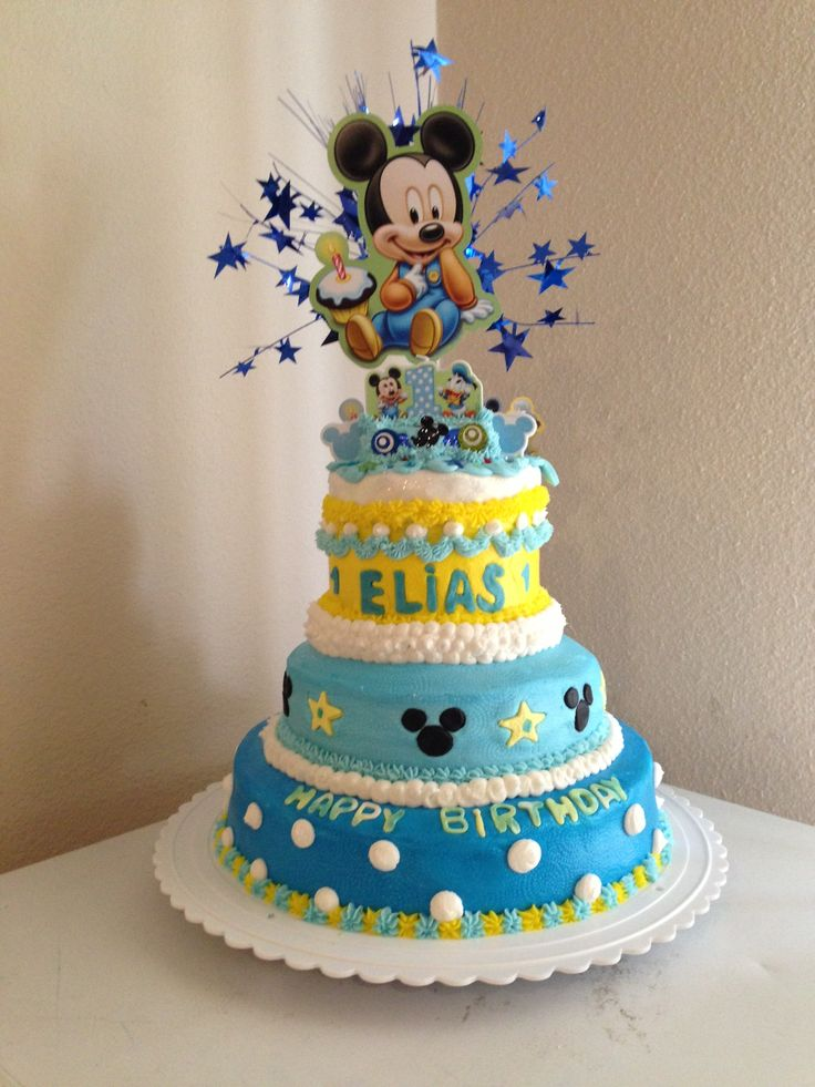 1000+ Images About Birthday Cake Baby Mickey Mouse On Pinterest
