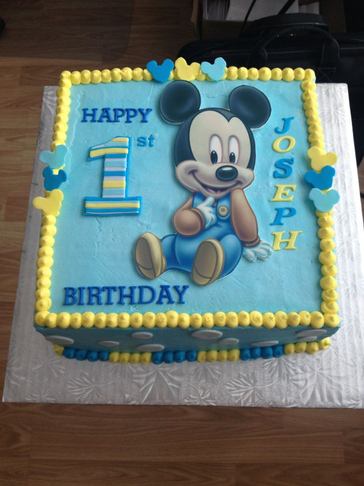 Baby Mickey Mouse 1st Birthday Cakes Mickey Mouse Invitations