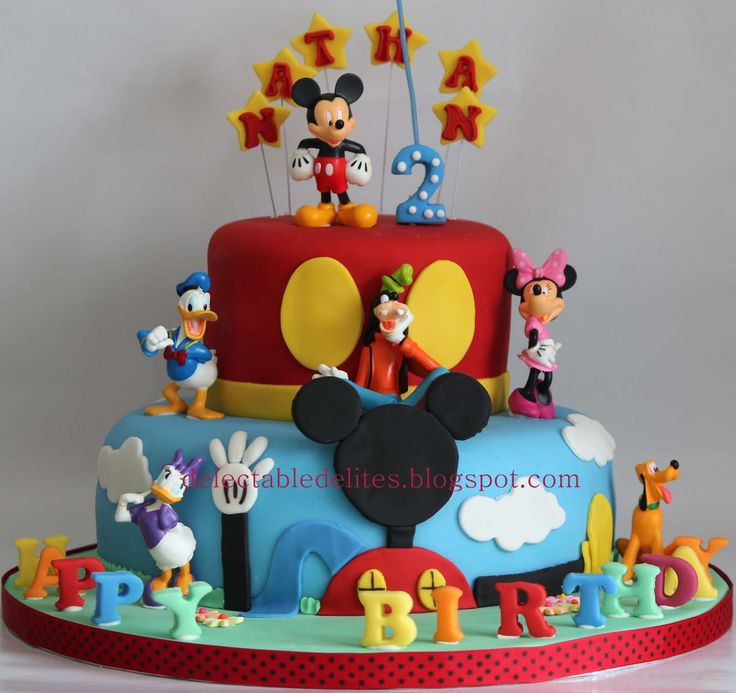 Brilliant Mickey Mouse Cakes Designs Personalised Birthday Cards Paralily Jamesorg