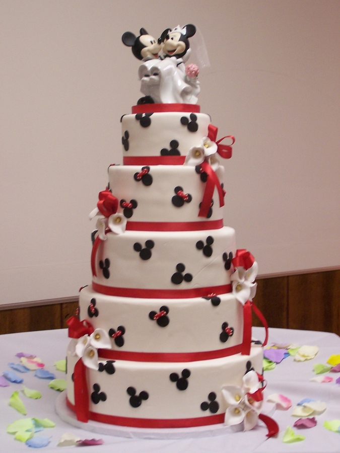 Mickey Mouse Wedding Cakes Topper Mickey Mouse