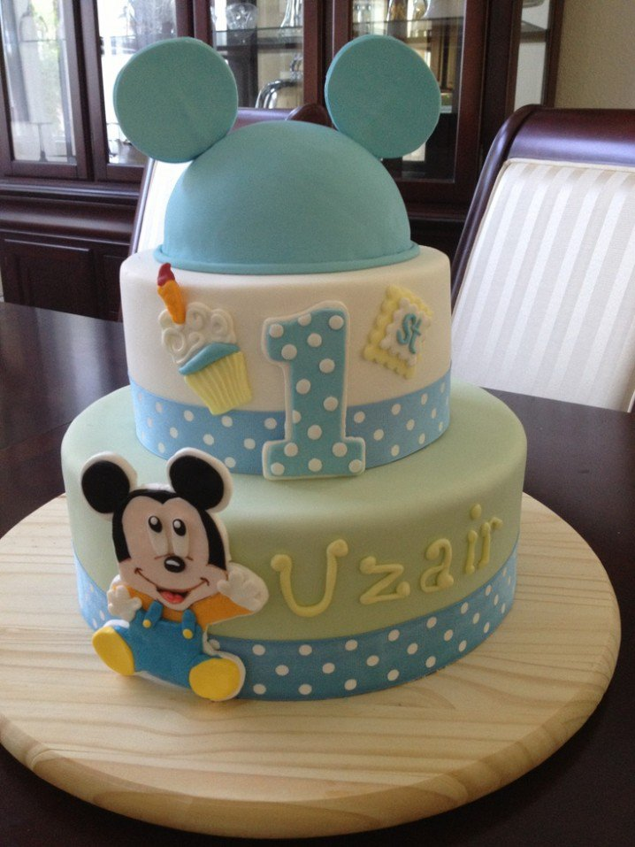 Astounding 15 Baby Boy First Birthday Cake Ideas Mickey Mouse Invitations Personalised Birthday Cards Arneslily Jamesorg