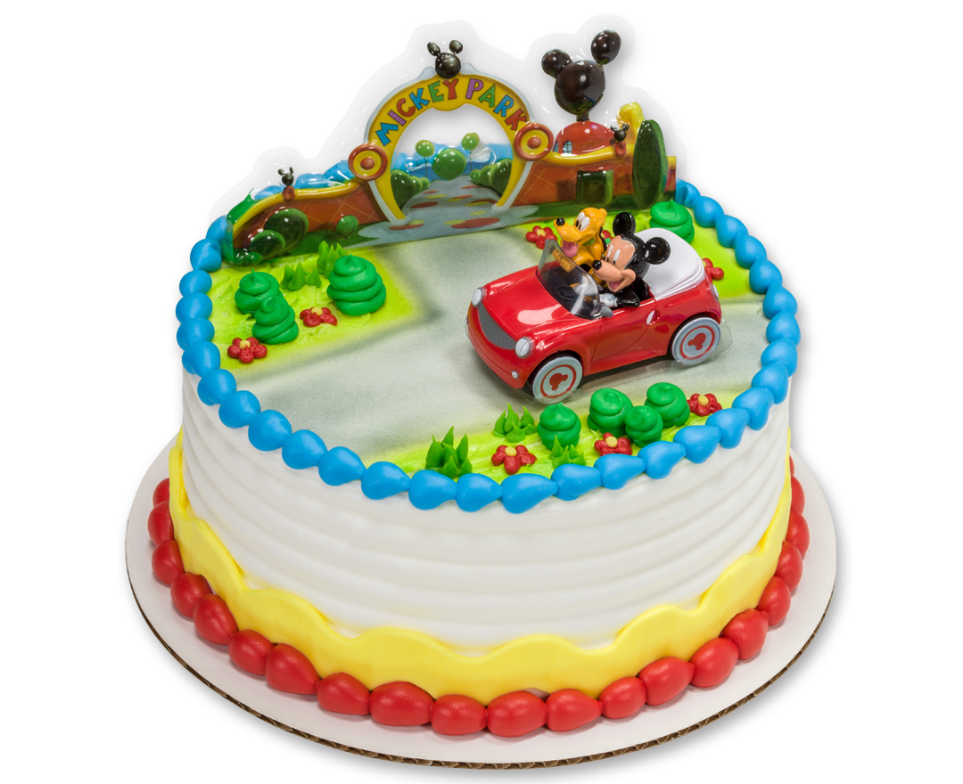 Mickey Mouse Cake Car Decoration