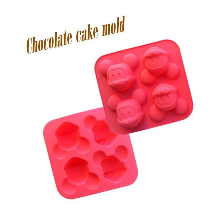 2016 ! 4 Cavities Love Mickey Mouse Cake Molds Eco Friendly