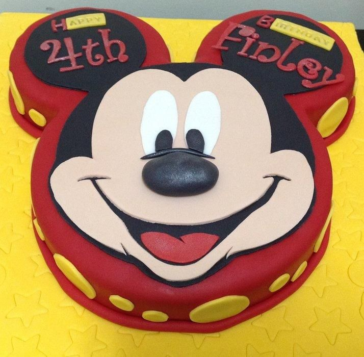 4th Mickey Mouse Face Birthday Cake Design Ideas And Pictures