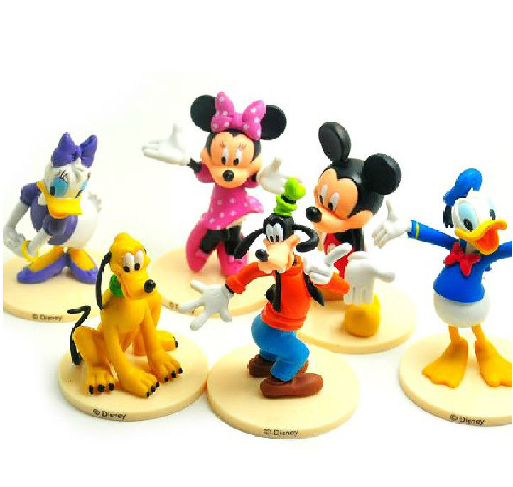 6pcs Mickey Mouse Clubhouse Figure Set Mickey Minnie Goofy Pvc Toy