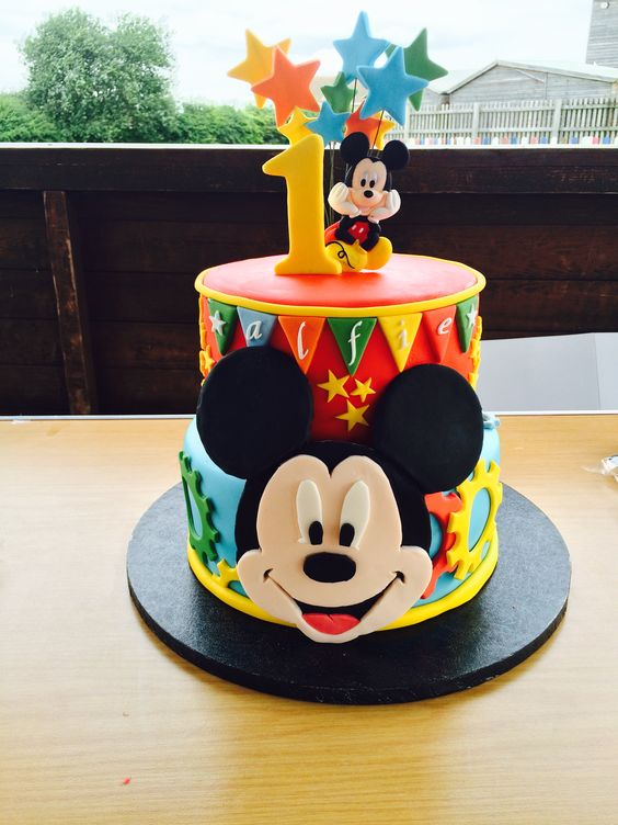 Big Face Mickey Mouse Birthday Cake