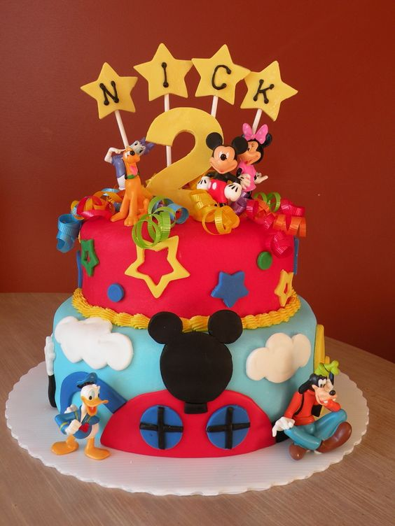 Mickey Mouse Clubhouse Cake For a 2 year olds Birthday Party