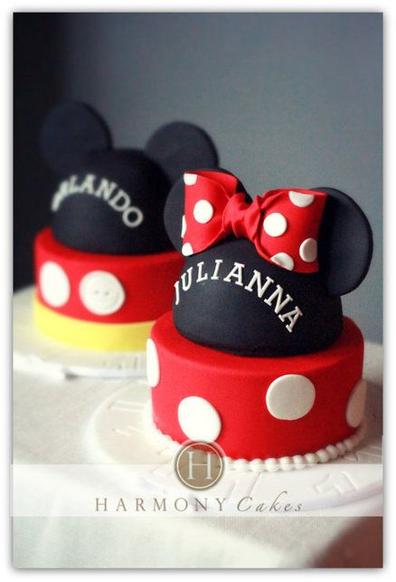 Simple Mickey Mouse Birthday Cake