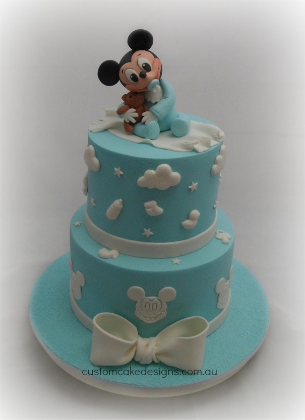 Baby Mickey Baby Shower Cake By Customcakedesigns On Deviantart