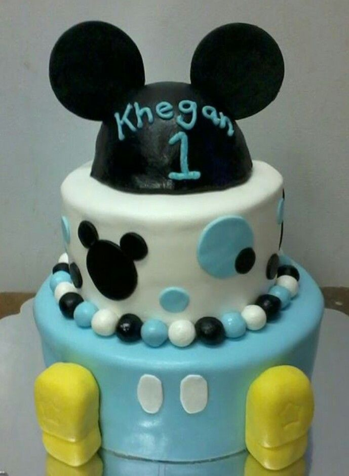 Baby Mickey Mouse Cake, Baby Mickey Cake And Mickey Cakes On Pinterest