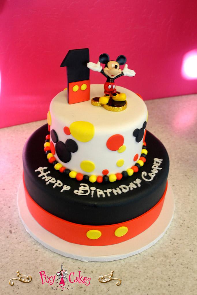 Birthday Cake Boy Mickey Mouse Disney Red Yellow – Pixy Cakes