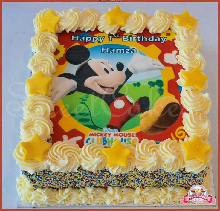 Buttercream Cake, Mickey Mouse Clubhouse And Clubhouses On Pinterest