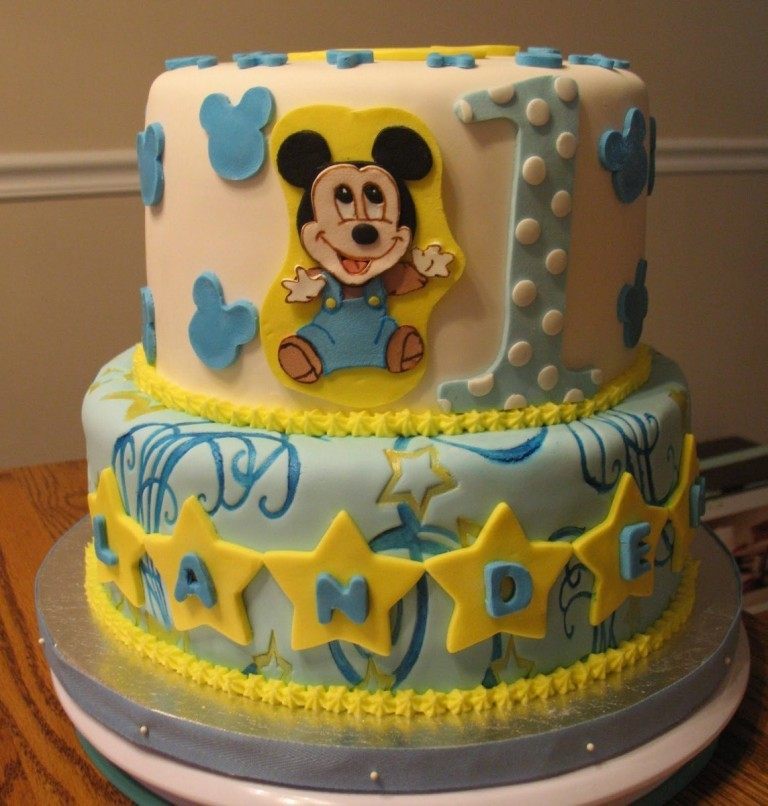 Cute Baby Mickey Mouse 1st Birthday Cakes