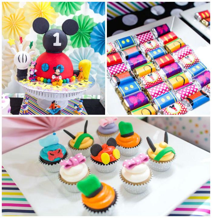Kara's Party Ideas Modern Rainbow Mickey Mouse Clubhouse Birthday