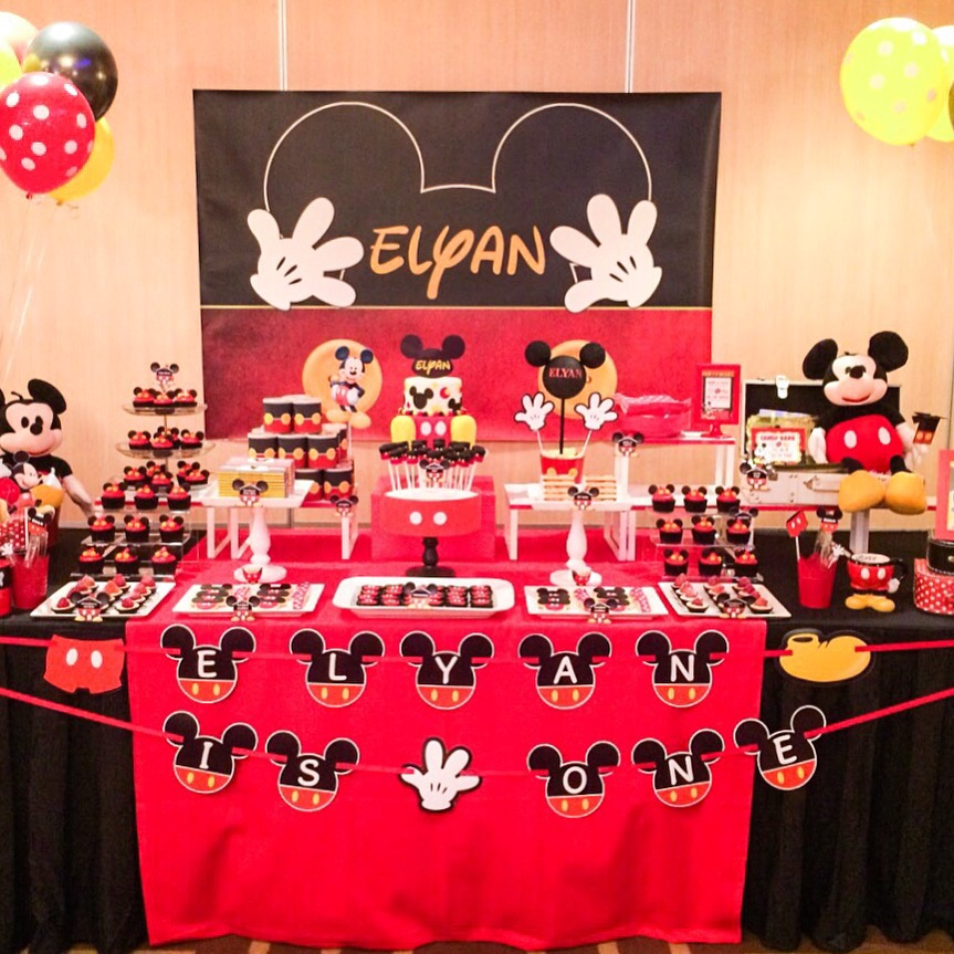 Mickey Macarons, Cookies, Marshmallow Pops, Cupcakes & Cake