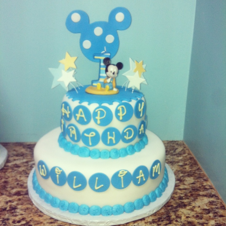 Mickey Mouse Baby Shower Cake!