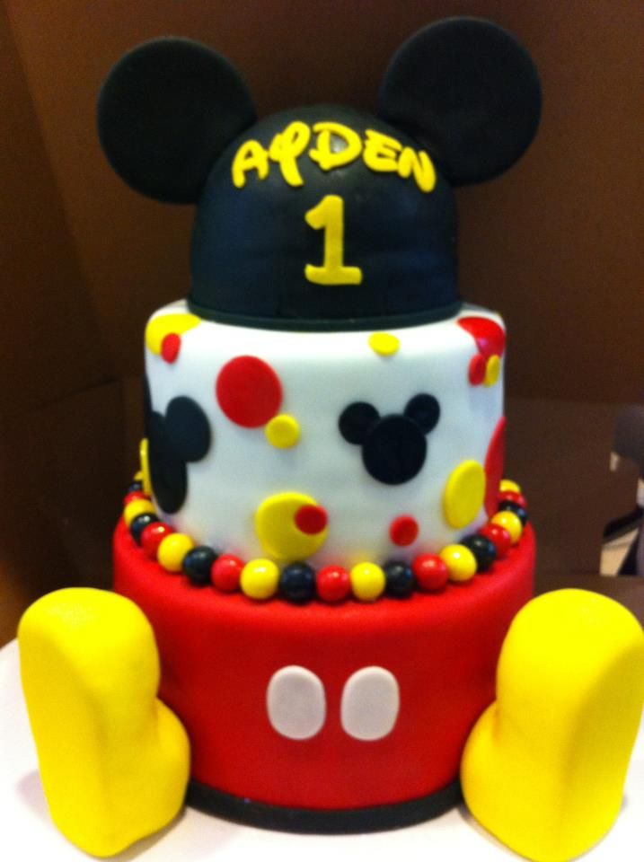 Mickey Mouse Birthday Cake, Mickey Mouse Birthday And Mickey Mouse