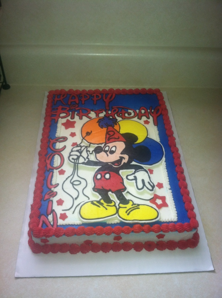 Mickey Mouse Birthday Sheet Cake