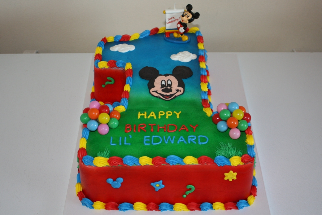 Mickey Mouse Cake 1st Birthday