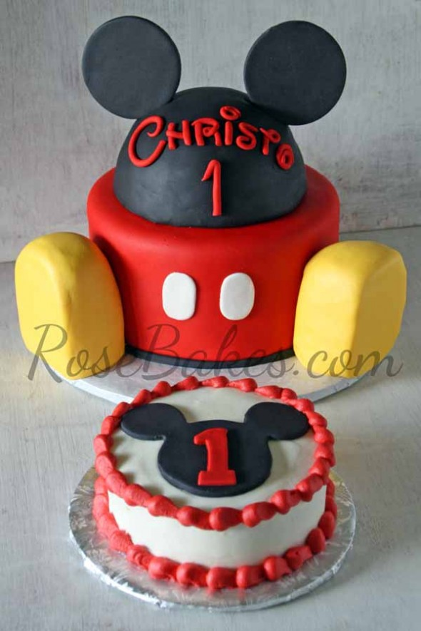 Mickey Mouse Cake And Smash Cake