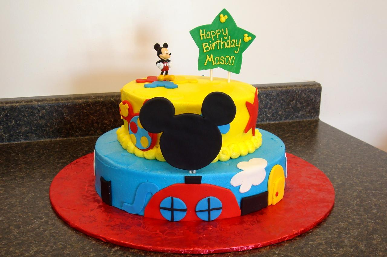 Mickey Mouse Cake Decorations, Mickey Cake