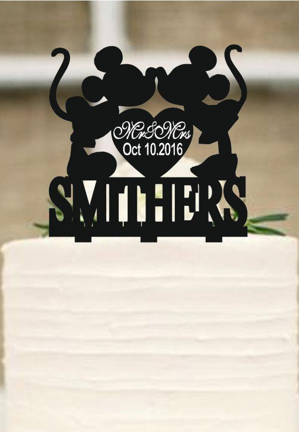 Mickey Mouse Cake Topper,wedding Cake Topper,personalized Cake