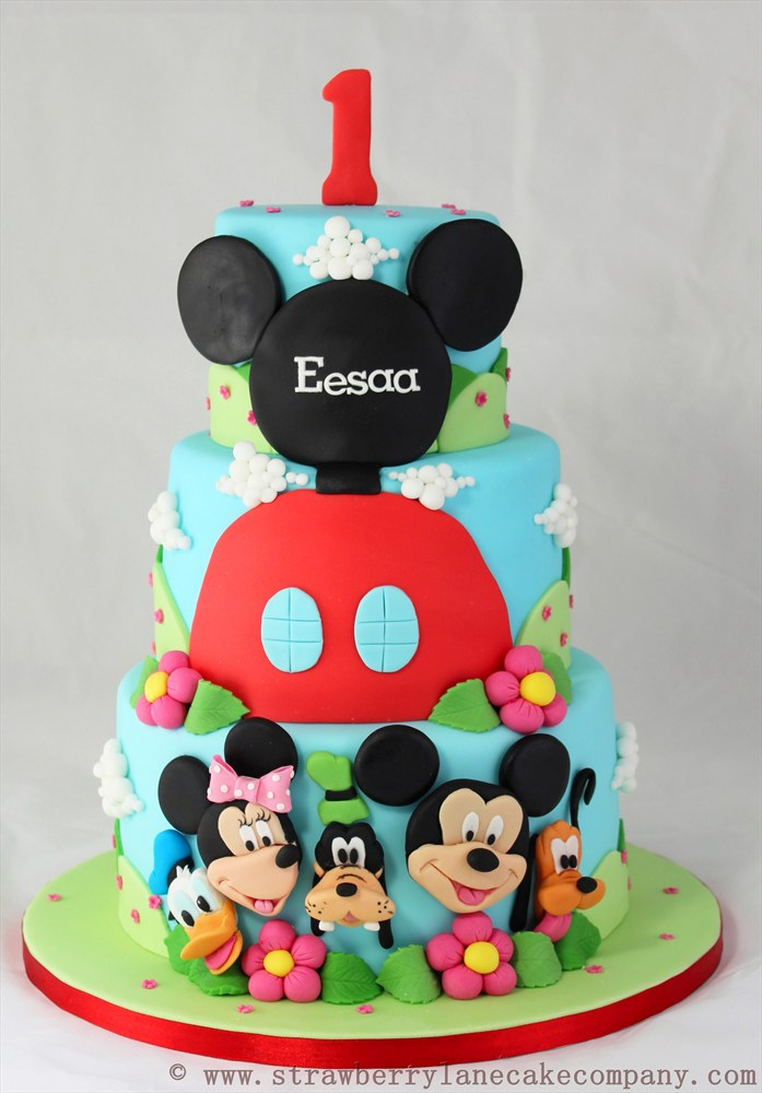 Mickey Mouse Club House 1st Birthday Cake
