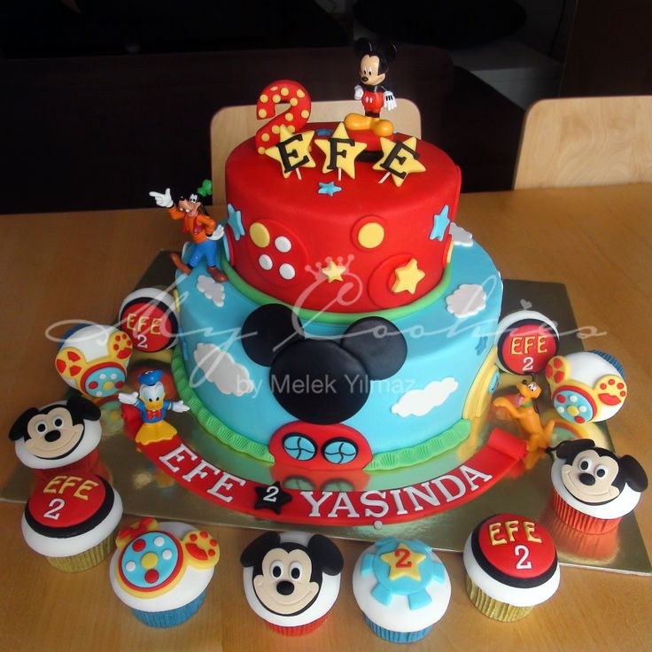 Mickey Mouse Clubhouse Cake And Cupcakes Recipes — Dishmaps