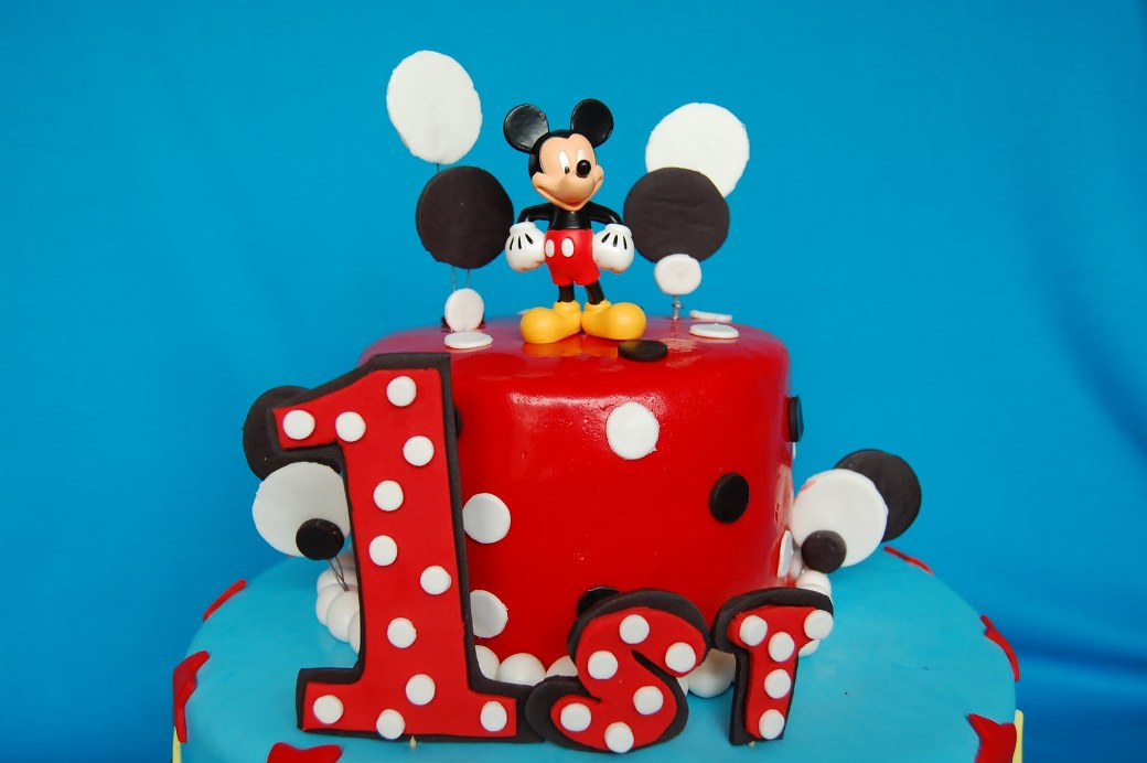 Mickey Mouse First Birthday Cake Decorations