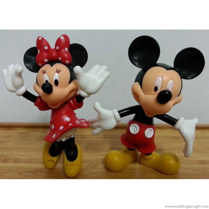 Mickey Mouse, Minnie Mouse, Donald Duck, Daisy Cake Topper Figurine