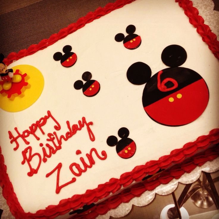 Mickey Mouse Sheet Cake Ideas 6203
