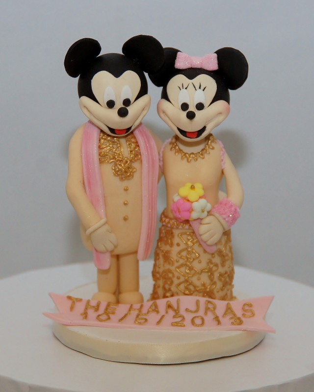 Minnie & Mickey Mouse (indian Attire) Wedding Cake Topper