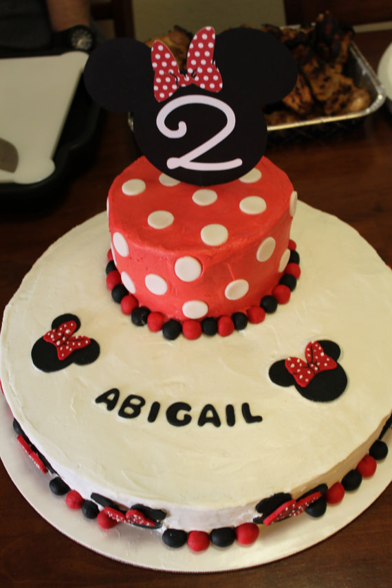 Minnie Mouse Mickey Mouse Cake Topper Centerpiece By Abbagee