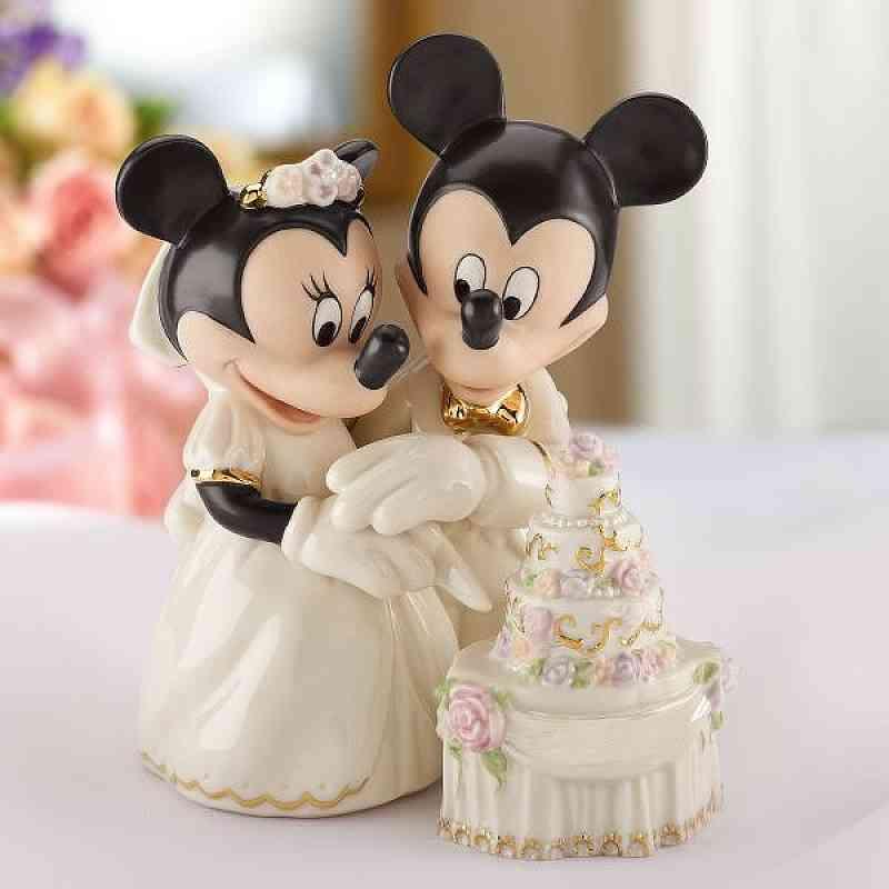 Minnie's Dream Wedding Cake Disney Wedding Cake Topper Figurine