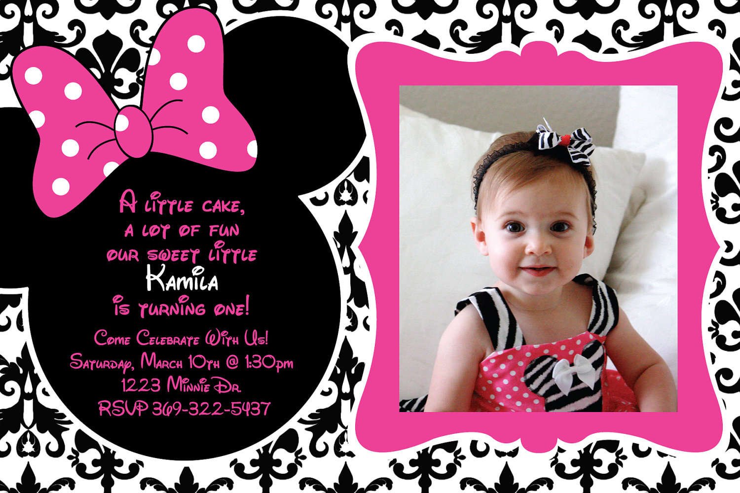 Mickey And Minnie Mouse Invitations Free - Mickey Mouse Invitations ...