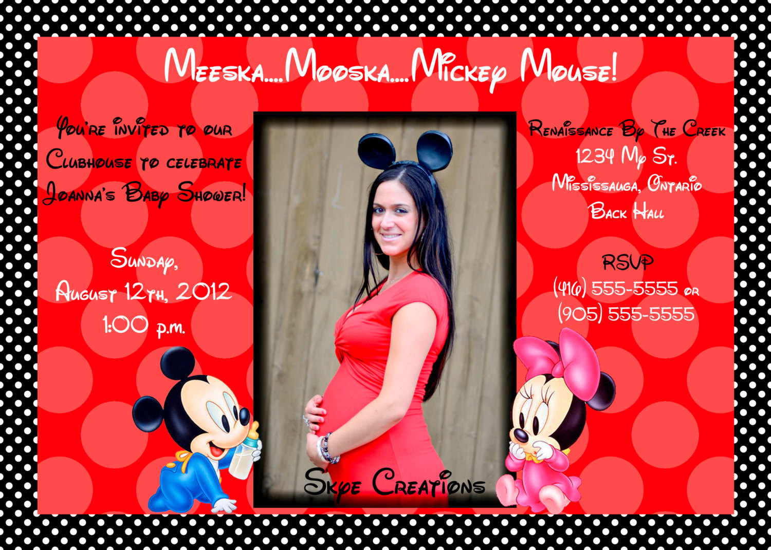 Enchanting Baby Shower Invitation Twins Ensign - Invitations and ...