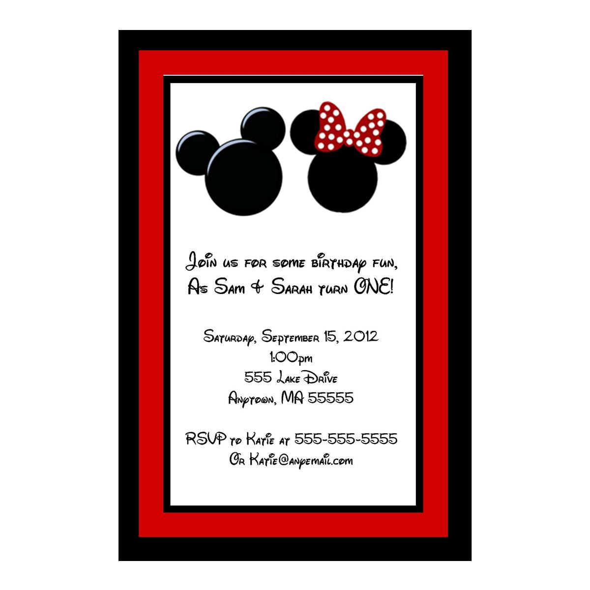Mickey Mouse Baby Shower Invitation Wording as beautiful invitation sample