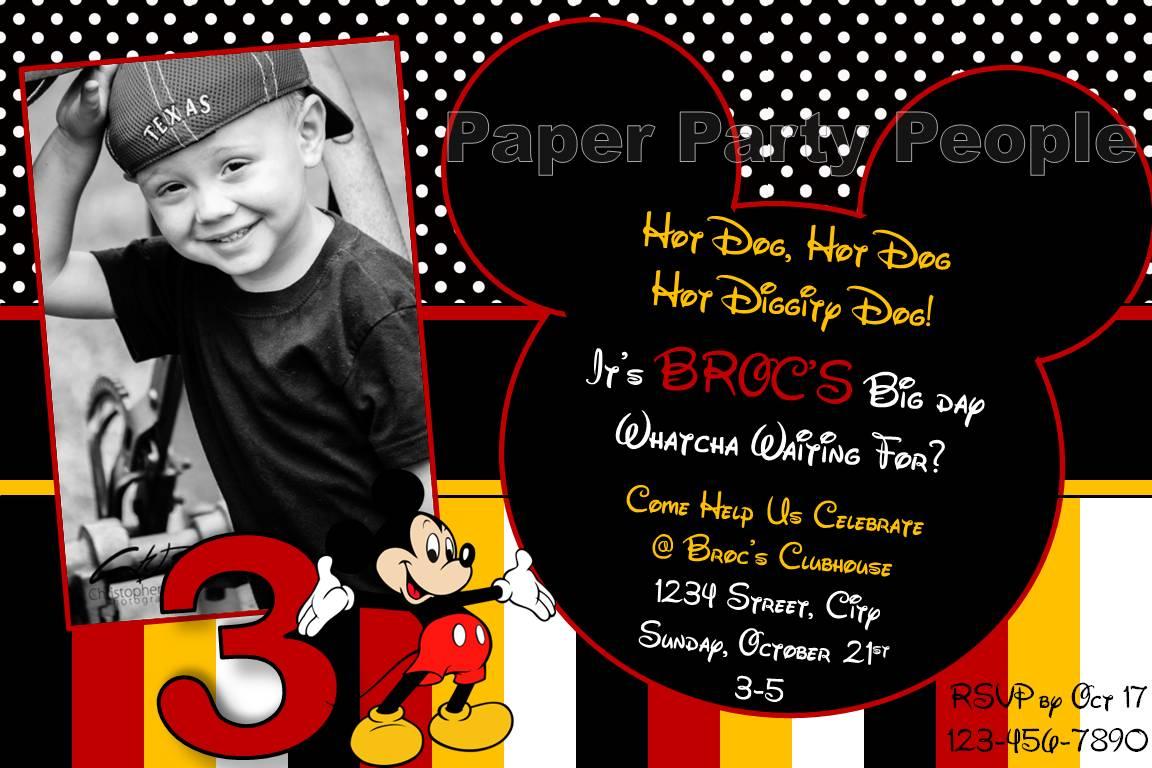 2nd Birthday Mickey Mouse Invitation Wording