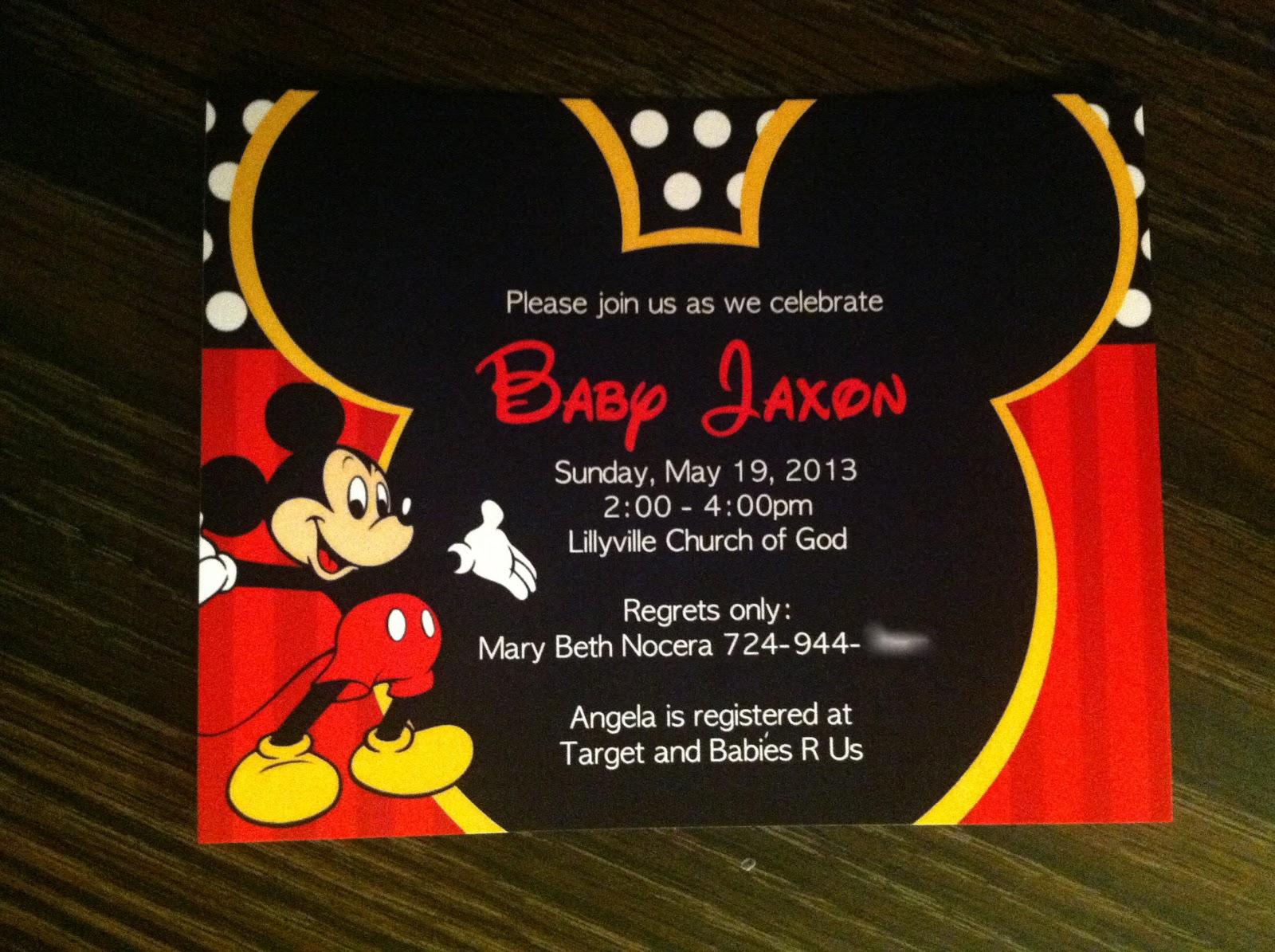 4 Creative Baby Mickey Baby Shower Invitations