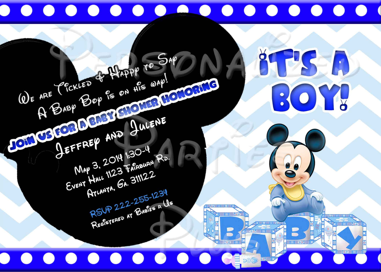 blog  page  of   mickey mouse invitations templates, Baby shower invitations