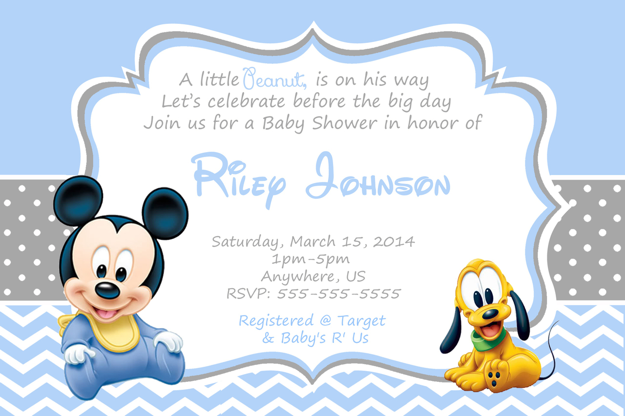 Mickey Mouse Invitations Wording is nice invitations layout