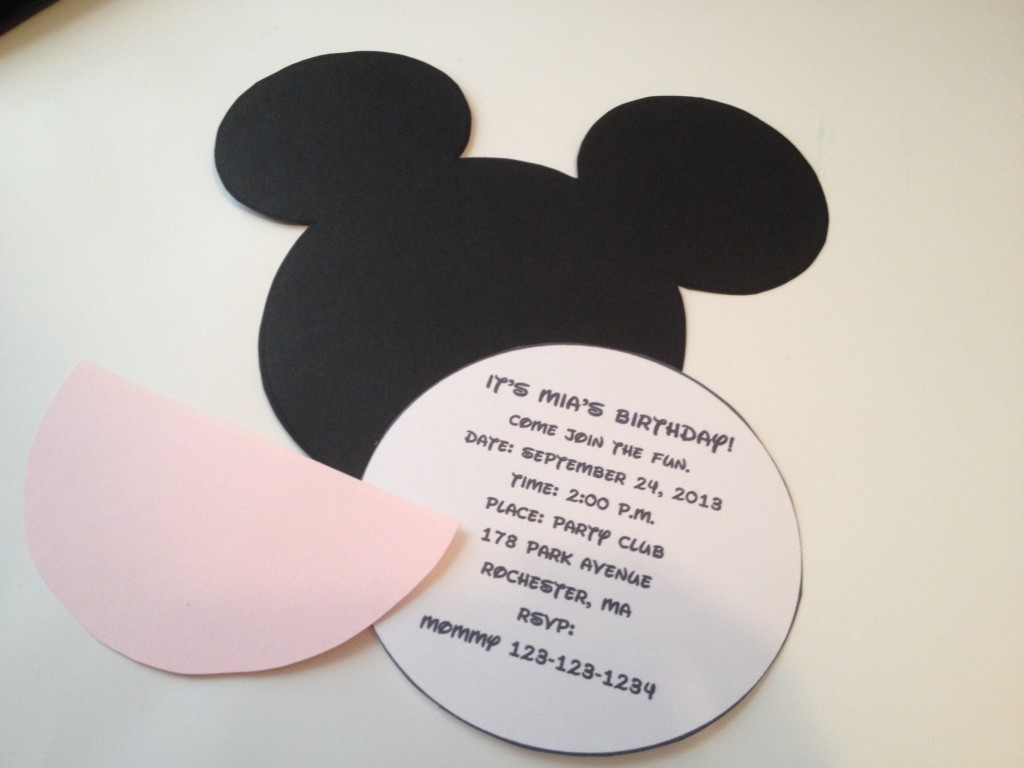 Best Photos Of Mickey Mouse Head Invitation Template