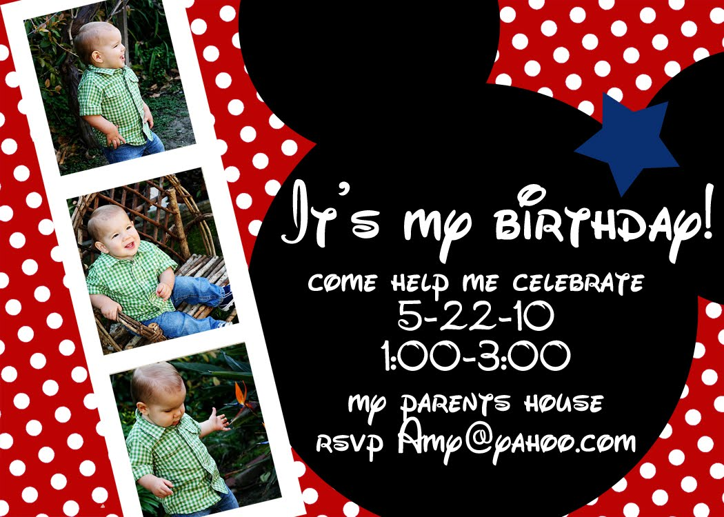 mickey mouse party invitations personalized  mickey mouse, Birthday invitations