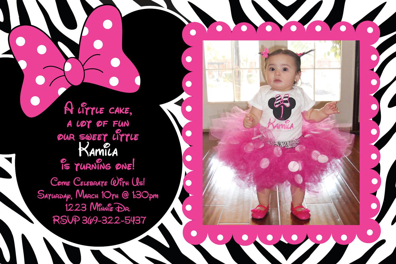 Birthday Invites  Top 10 Minnie Mouse Birthday Invitations
