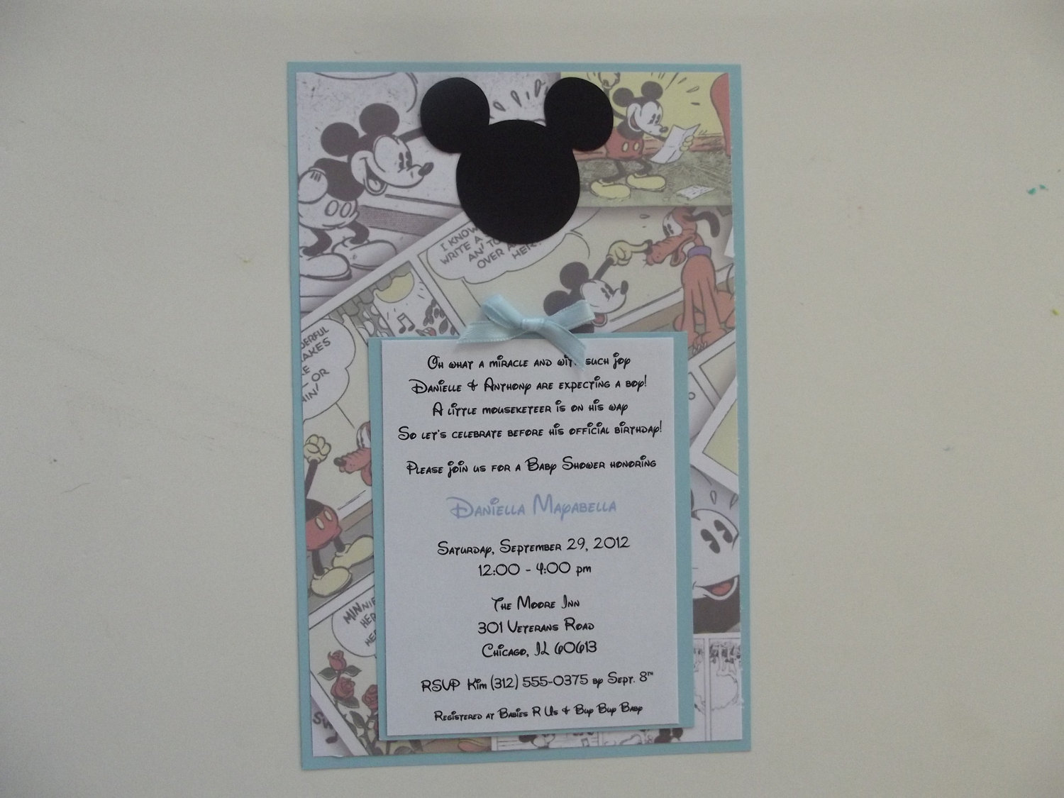 Classic Mickey Mouse Invitations Vintage By Whimsycreationsbyann