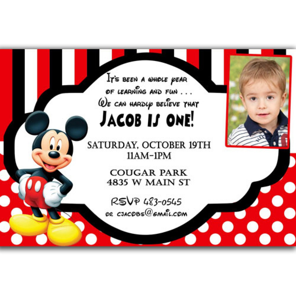 Disney Baby Mickey Mouse Invitations Christening