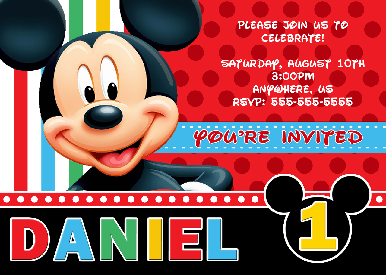 Invitations Mickey Mouse