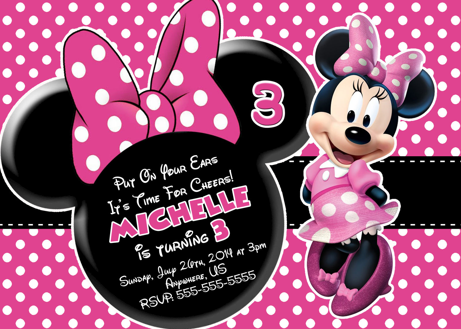Mickey And Minnie Mouse Birthday Invitations Mickey And Minnie