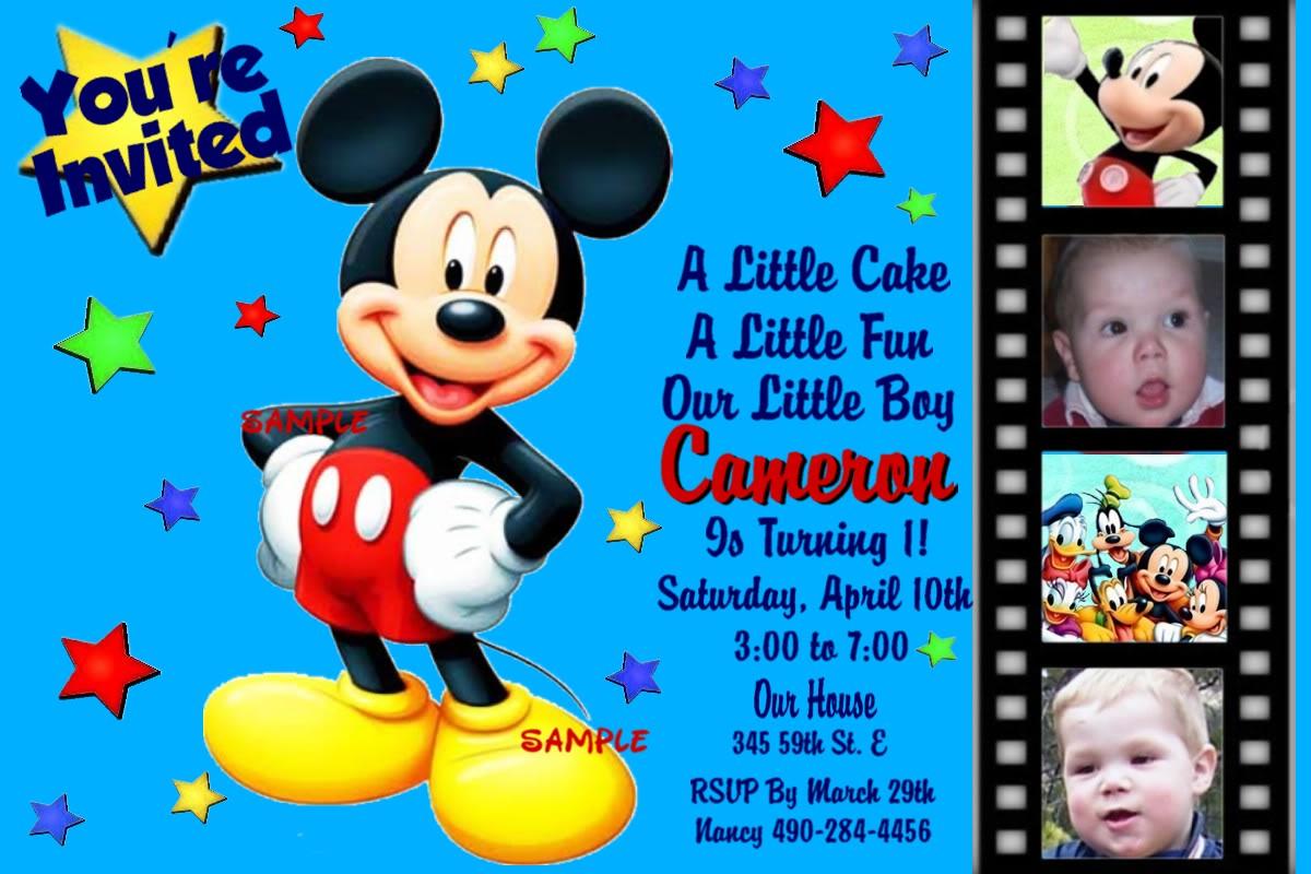 Mickey Birthday Invitations
